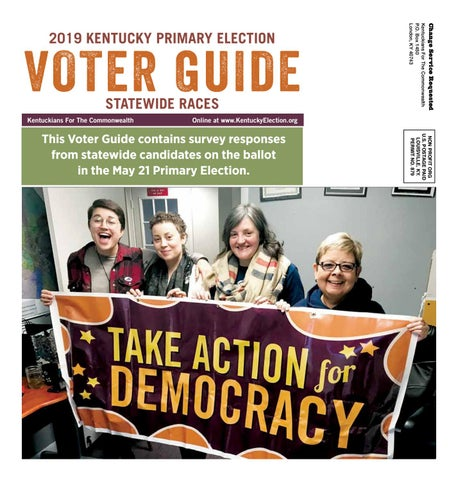 KFTC Voter Guide May 2019 Primary by Kentuckians For The
