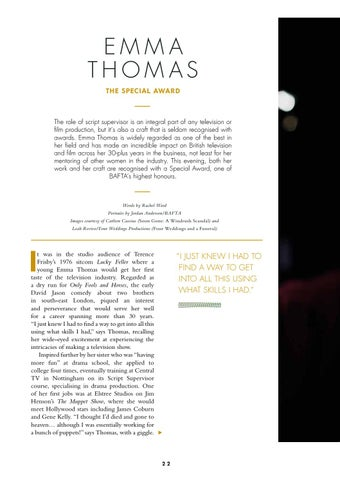 Page 24 of The Special Award: Emma Thomas