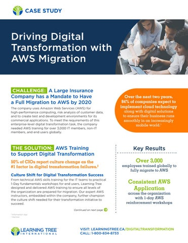 Driving Digital Transformation with AWS Migration (CA) by