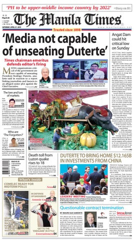 THE MANILA TIMES | APRIL 27, 2019 by The Manila Times - issuu