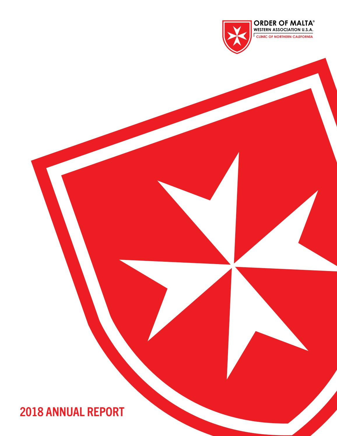 2018 Annual Report - Order of Malta Clinic of Northern