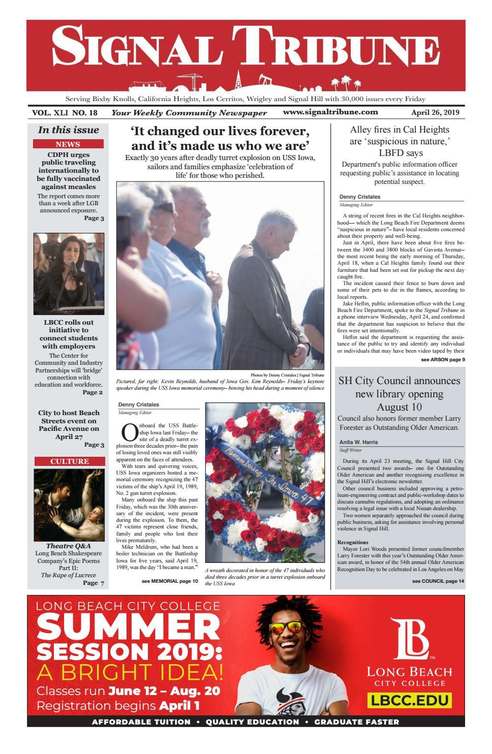 April 26, 2019 | Vol  XLI No  18 by Signal Tribune - issuu