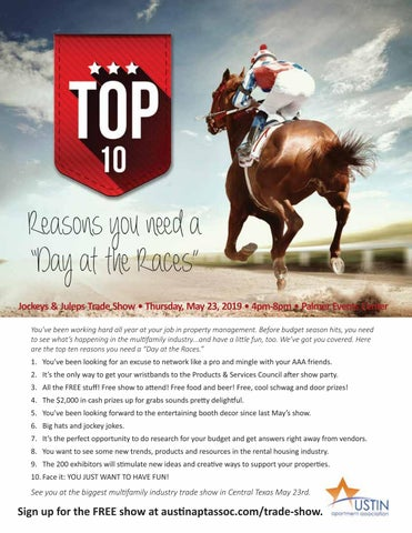 """Page 16 of Top Ten Reasons You Need a """"Day at the Races"""""""