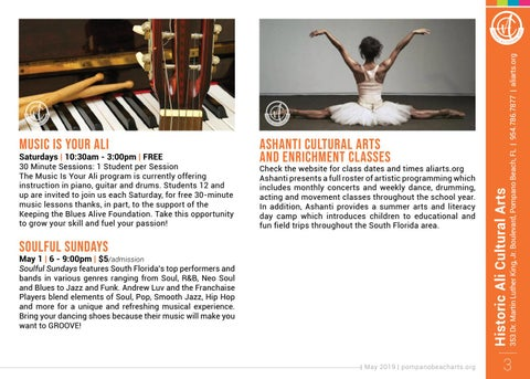Page 3 of Happenings at the Historic Ali Cultural Arts
