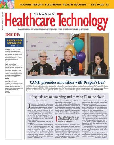 Canadian Healthcare Technology - May 2019 by Canadian