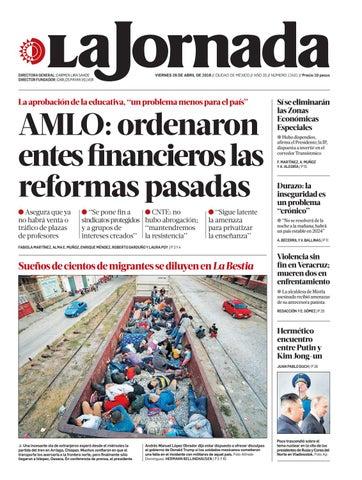 d4b5a850e La Jornada, 04/26/2019 by La Jornada - issuu