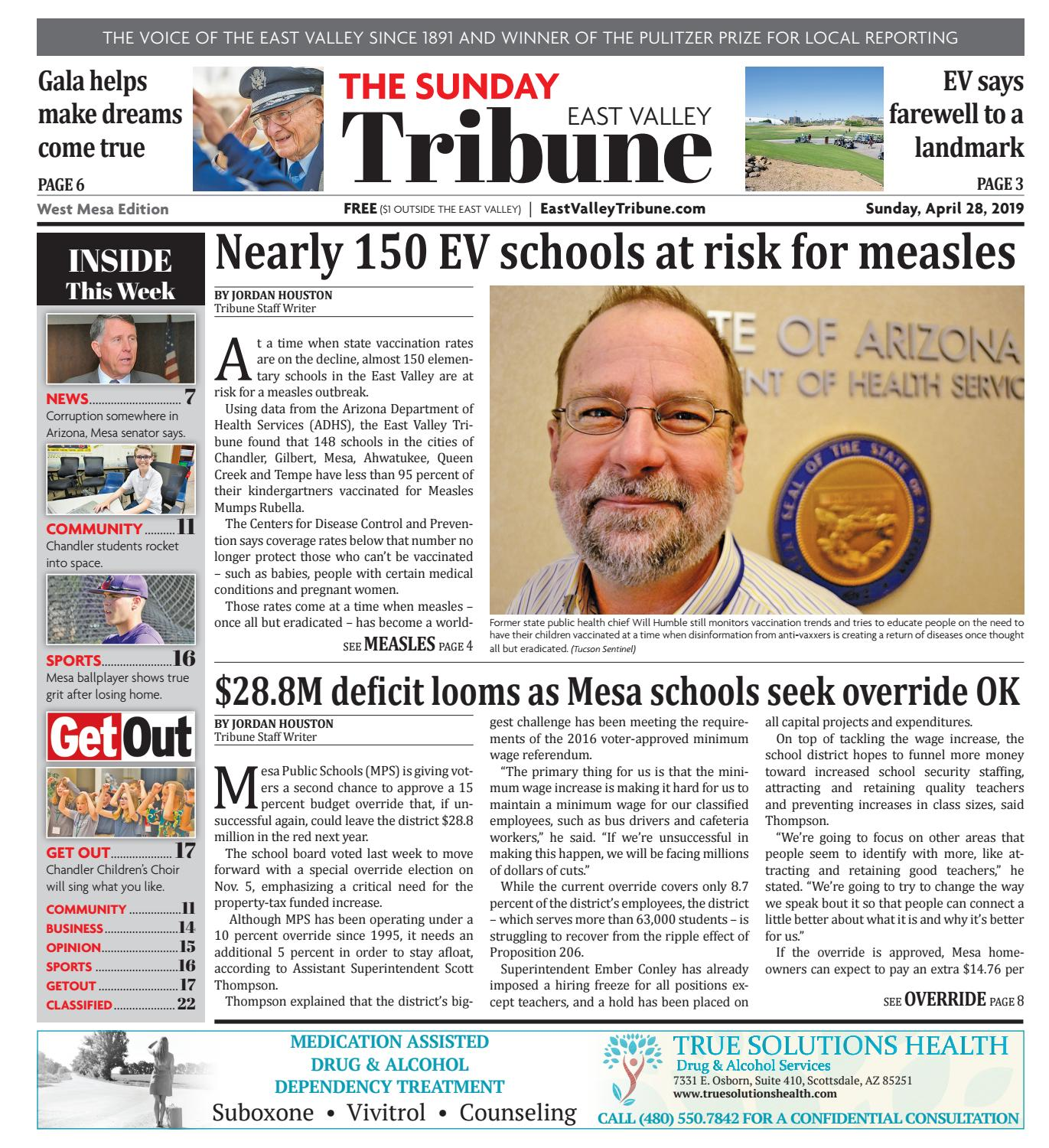 East Valley Tribune West Mesa 04-28-2019 by Times Media Group - issuu