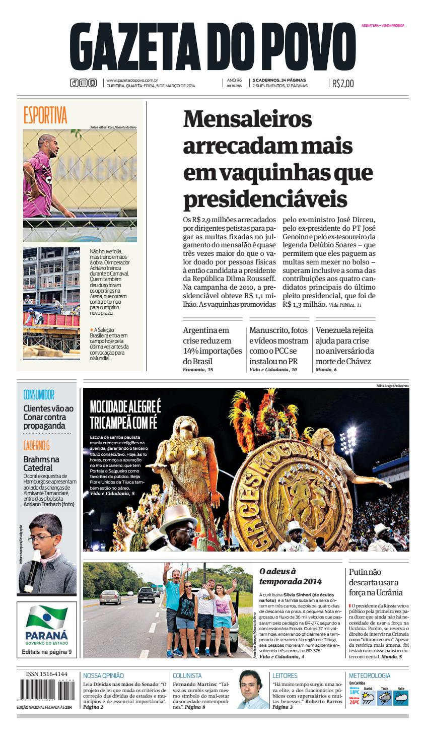 99492b94388a Jornal Gazeta do Povo nº 30.785 by Portal Academia do Samba - issuu