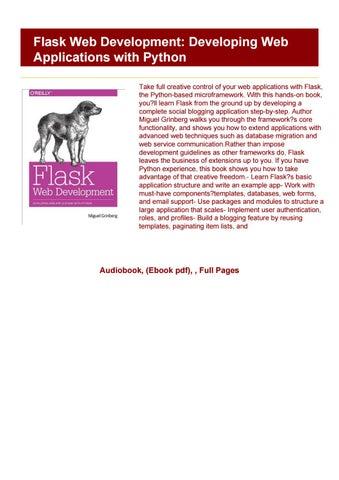 Flask Web Development Book