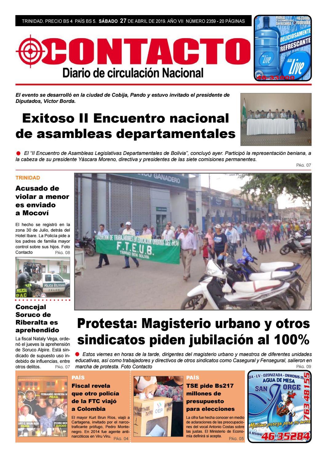 Diario Contacto 27 De Abril De 2019 By Diario Contacto Beni