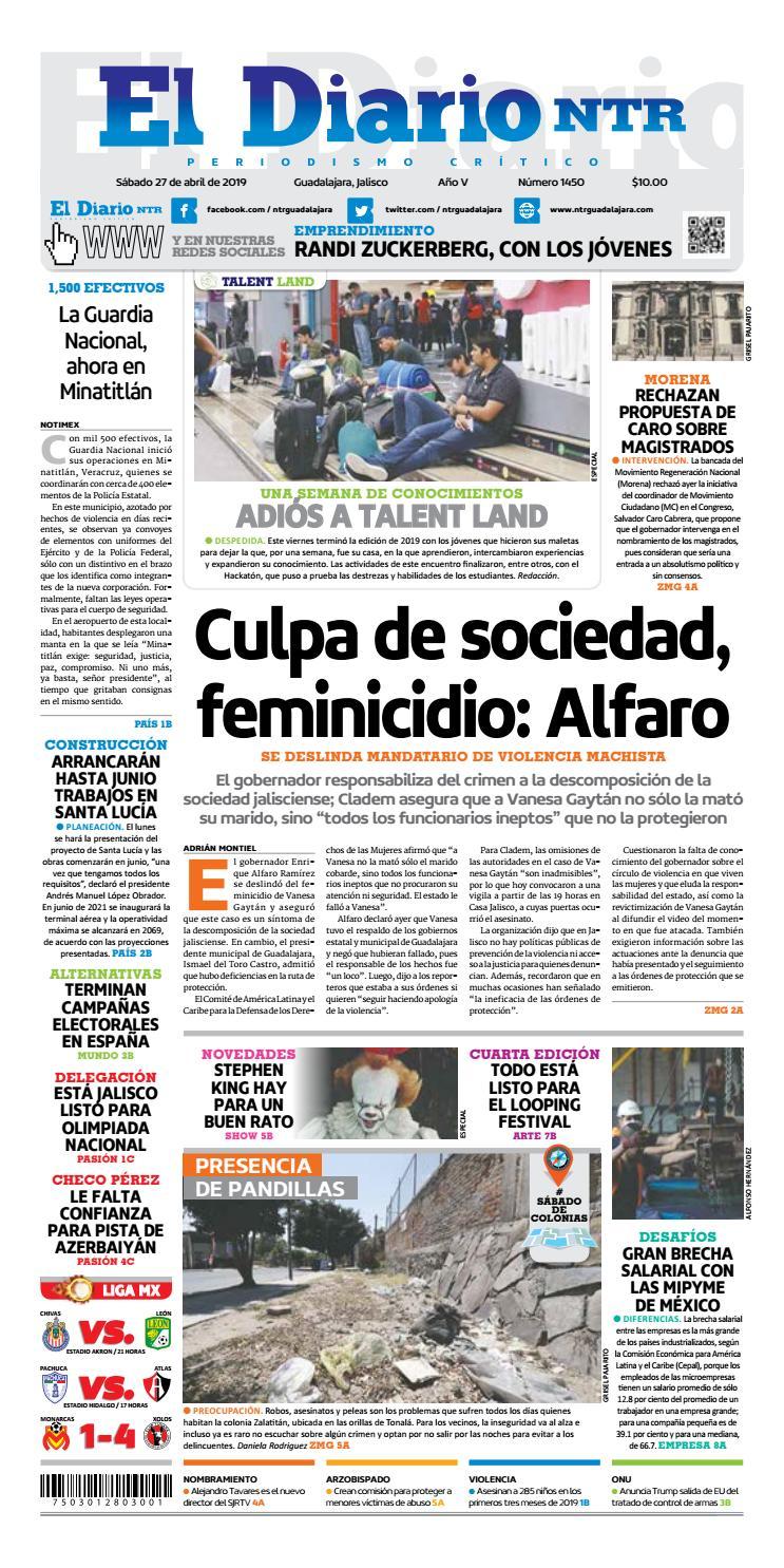 El Diario Ntr 1450 By Ntr Guadalajara Issuu