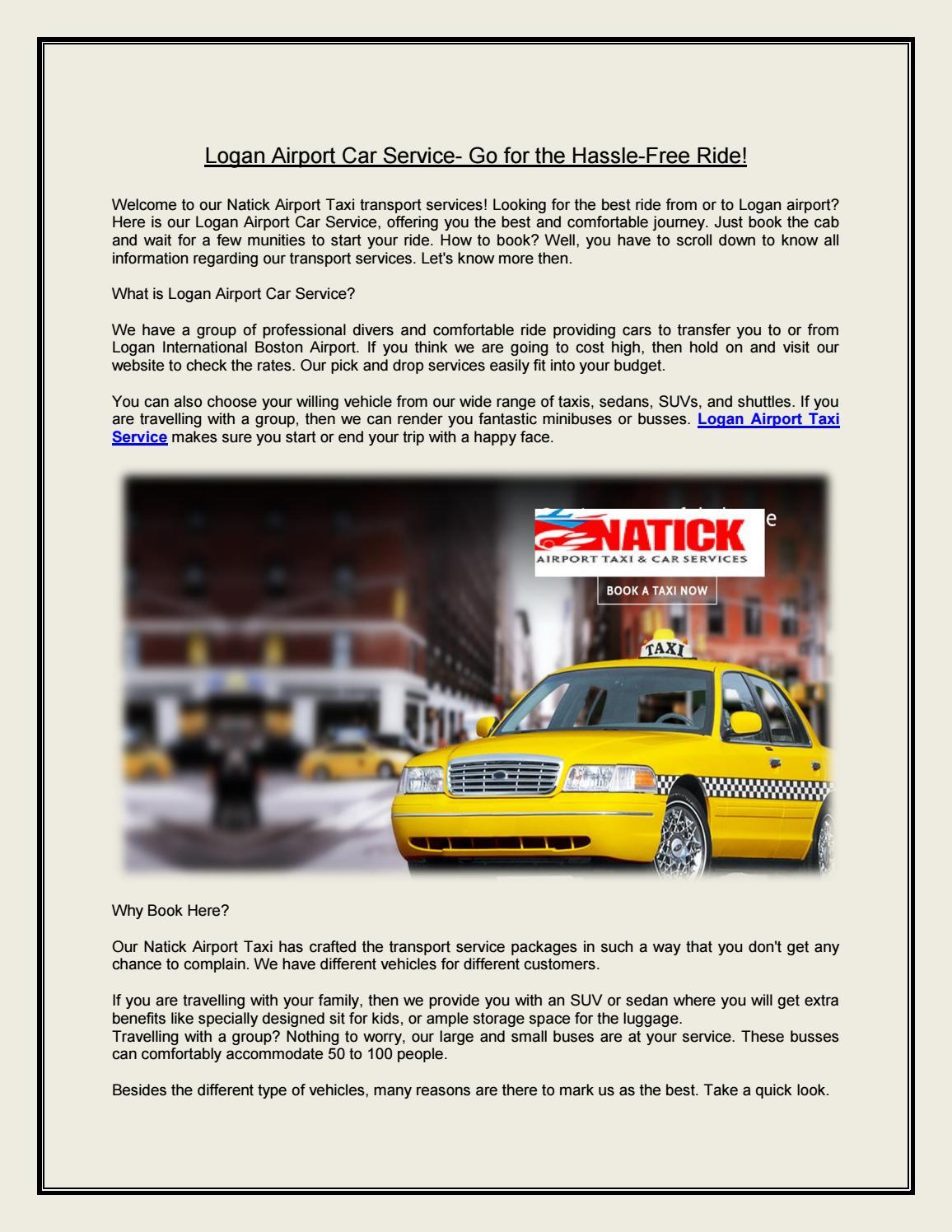 Logan Airport Car Service | Logan Airport Taxi Service