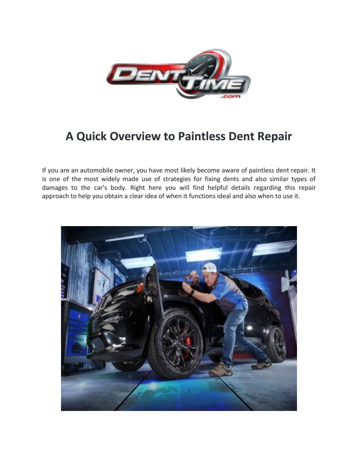 Paintless Dent Removal San Diego Bumper Scratch Repair
