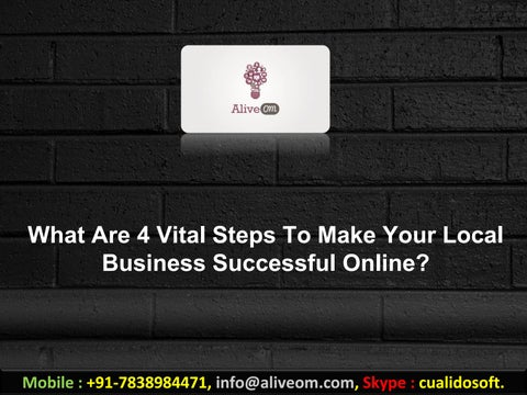 0ae8dfe4 What Are 4 Vital Steps To Make Your Local Business Successful Online?
