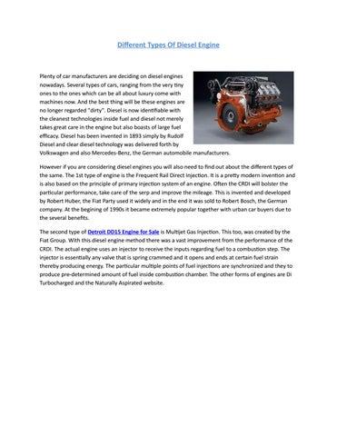 Different Types Of Diesel Engine by nasirabbasi534 - issuu