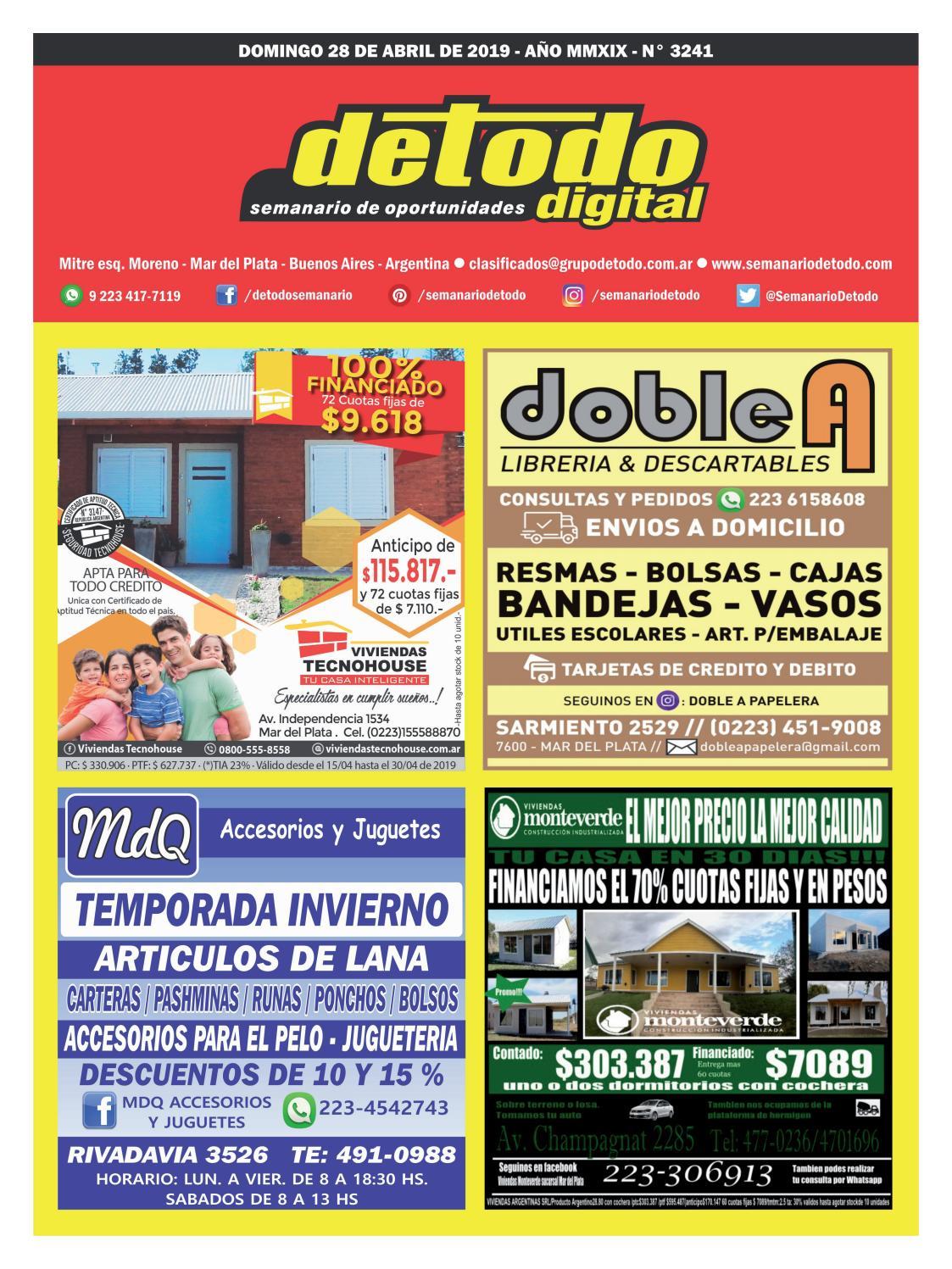 e8e1605ac Semanario Detodo - Edición N° 3241 - 28/04/2019 by Semanario Detodo - issuu