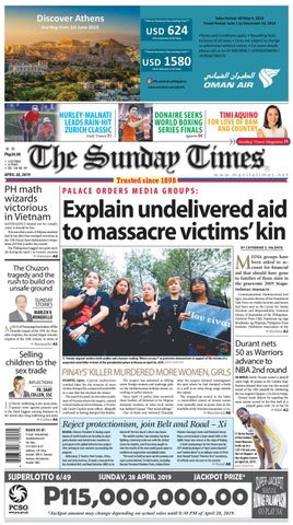 14be95dc3a4 The Manila Times | April 28, 2019 by The Manila Times - issuu