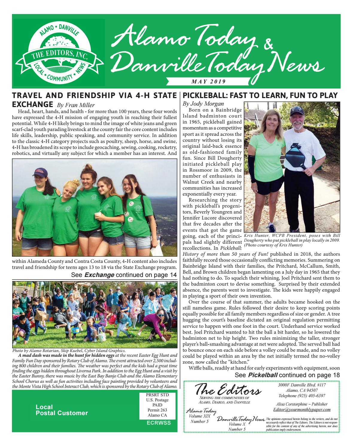 2019 MAY ~ Alamo Today & Danville Today News by The Editors, Inc - issuu