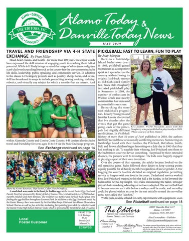 81475d08 2019 MAY ~ Alamo Today & Danville Today News by The Editors, Inc - issuu
