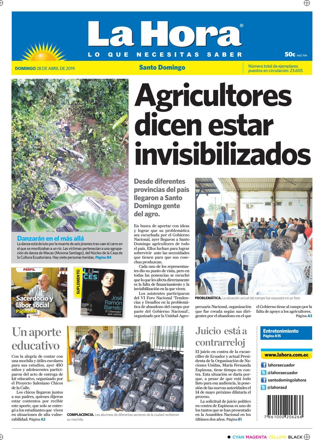 8777188aaee Santo Domingo 28 de abril del 2019 by Diario La Hora Ecuador - issuu