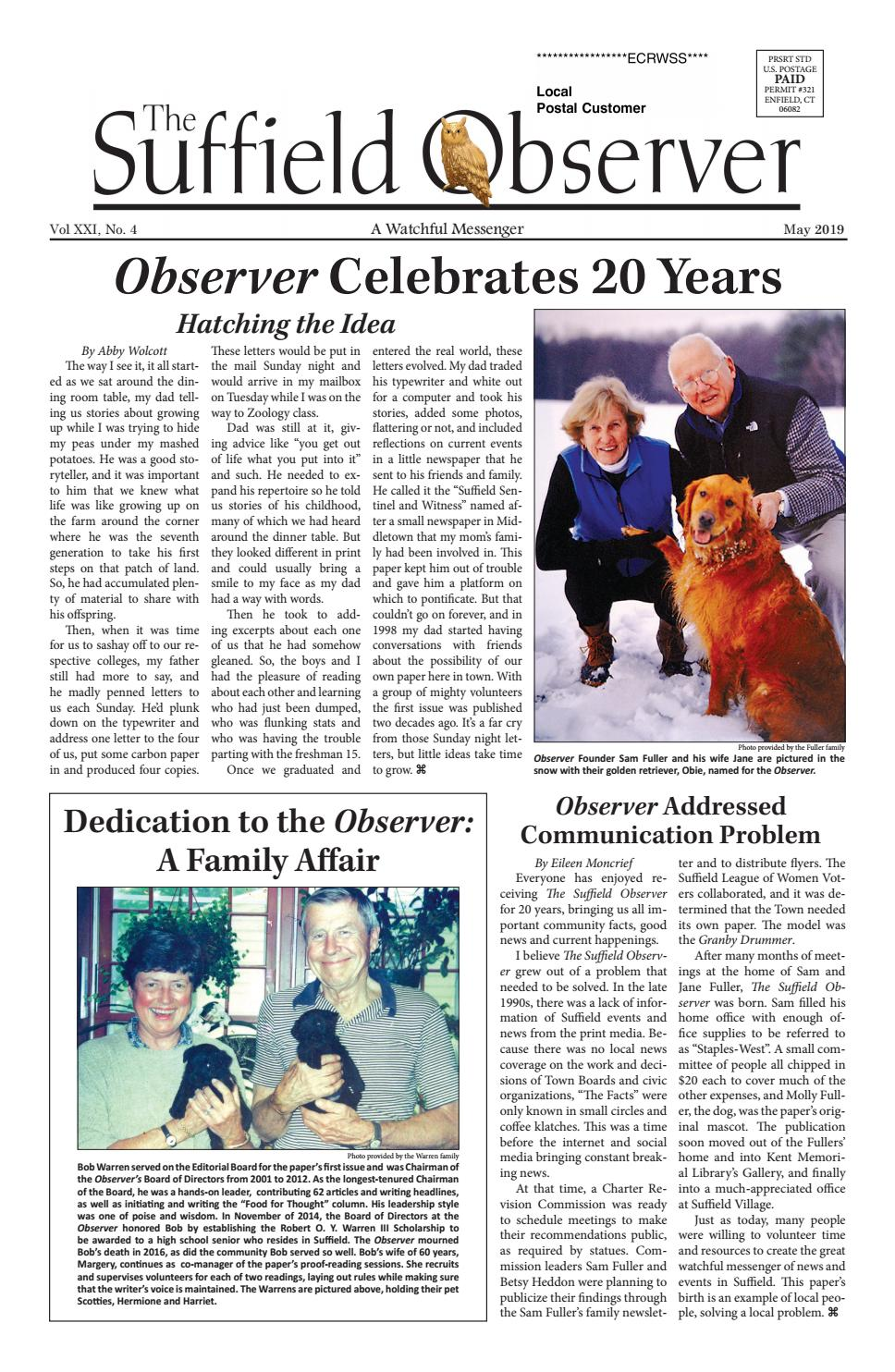 The Suffield Observer | May 2019 by The Suffield Observer