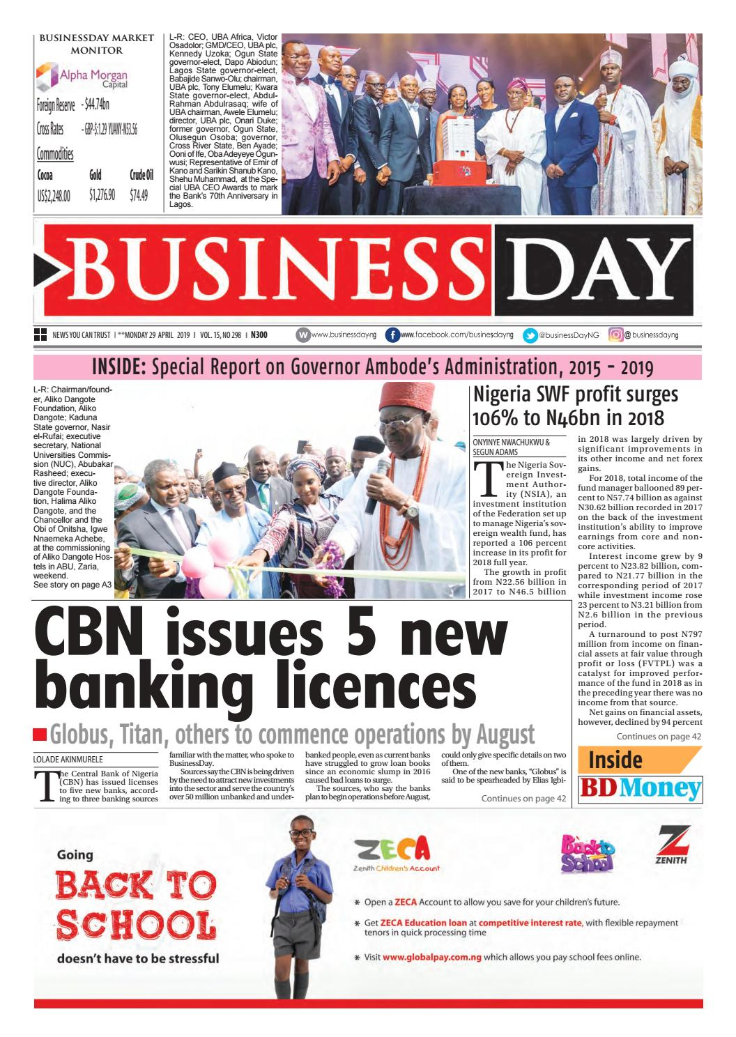 6c4ee1879e855 BusinessDay 29 Apr 2019 by BusinessDay - issuu