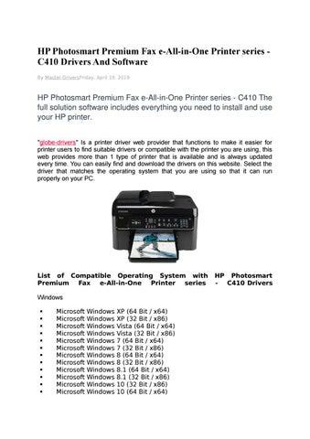HP PHOTOSMART PREMIUM C410 SERIES DRIVER FOR WINDOWS 8