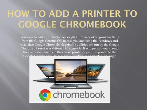 How to Add a Printer to Google Chromebook by sofia28williams