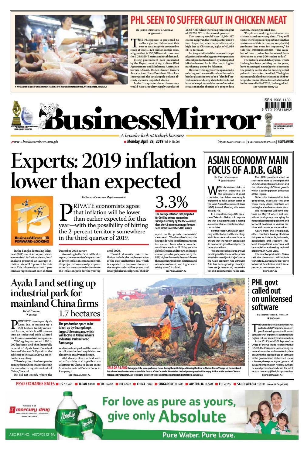e6021fa7e6433 BusinessMirror April 29, 2019 by BusinessMirror - issuu