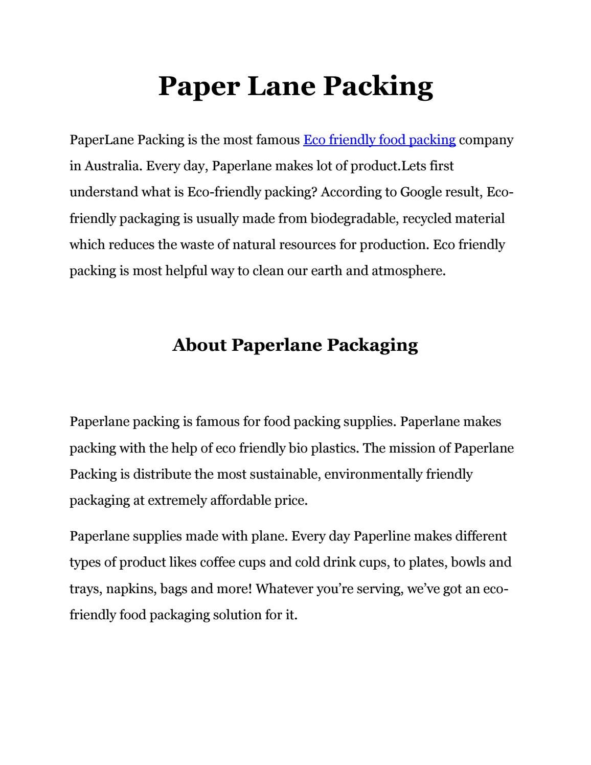 What Is Eco >> Eco Takeaway Containers By Paperlane Packaging Issuu