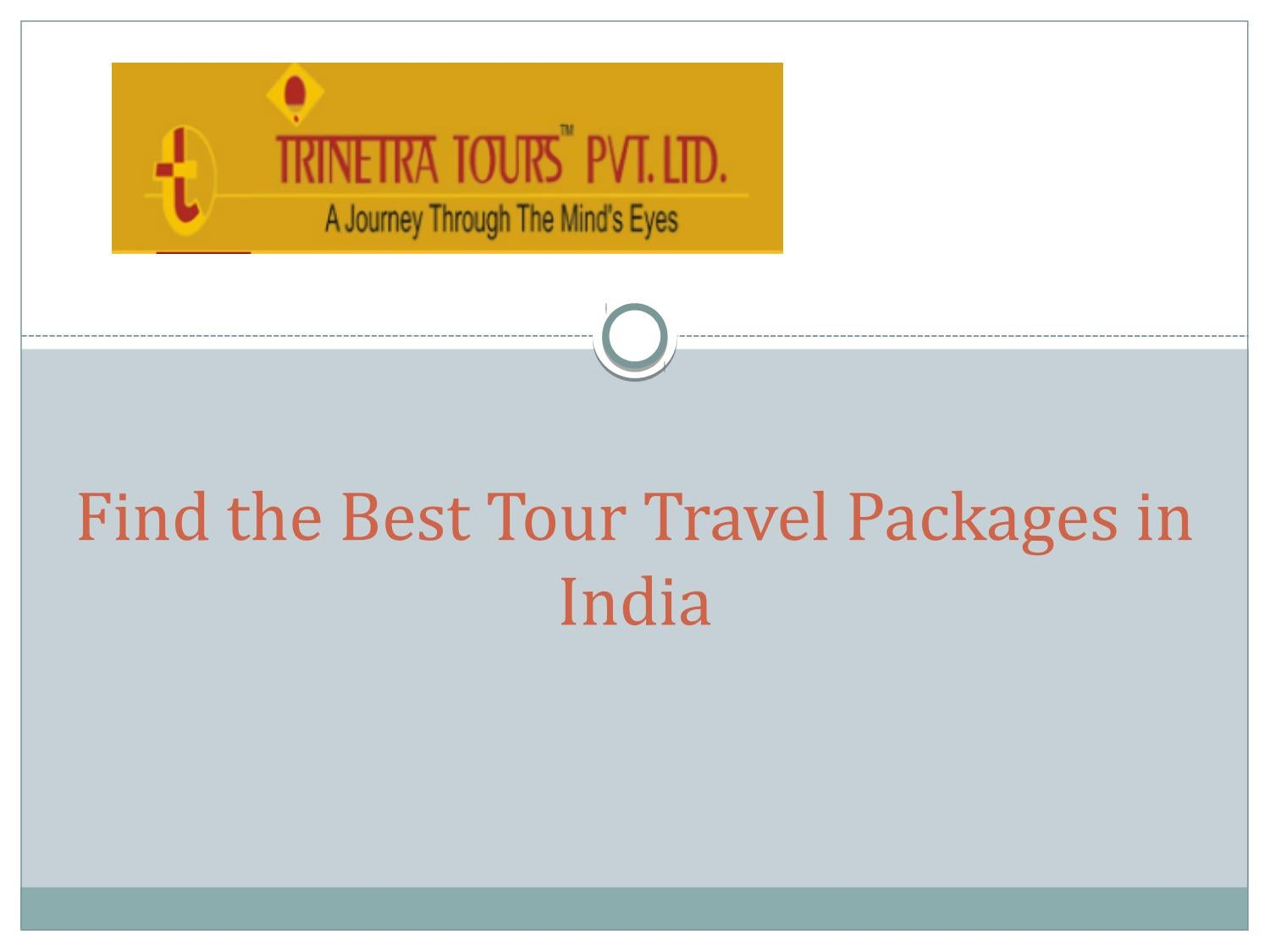 Find The Best Tour Travel Packages in India