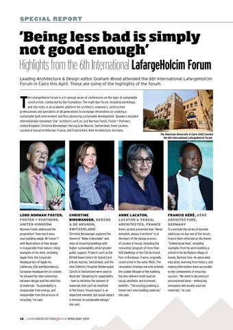 Page 14 of Highlights from the 6th International LafargeHolcim Forum