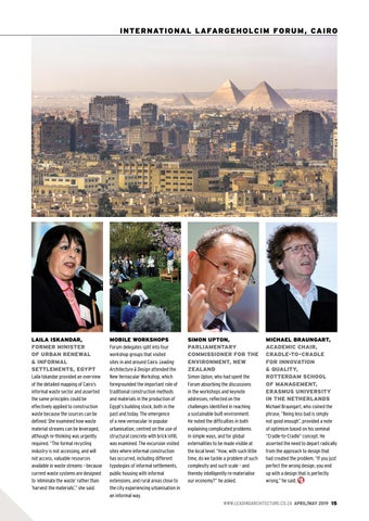 Page 15 of Highlights from the 6th International LafargeHolcim Forum