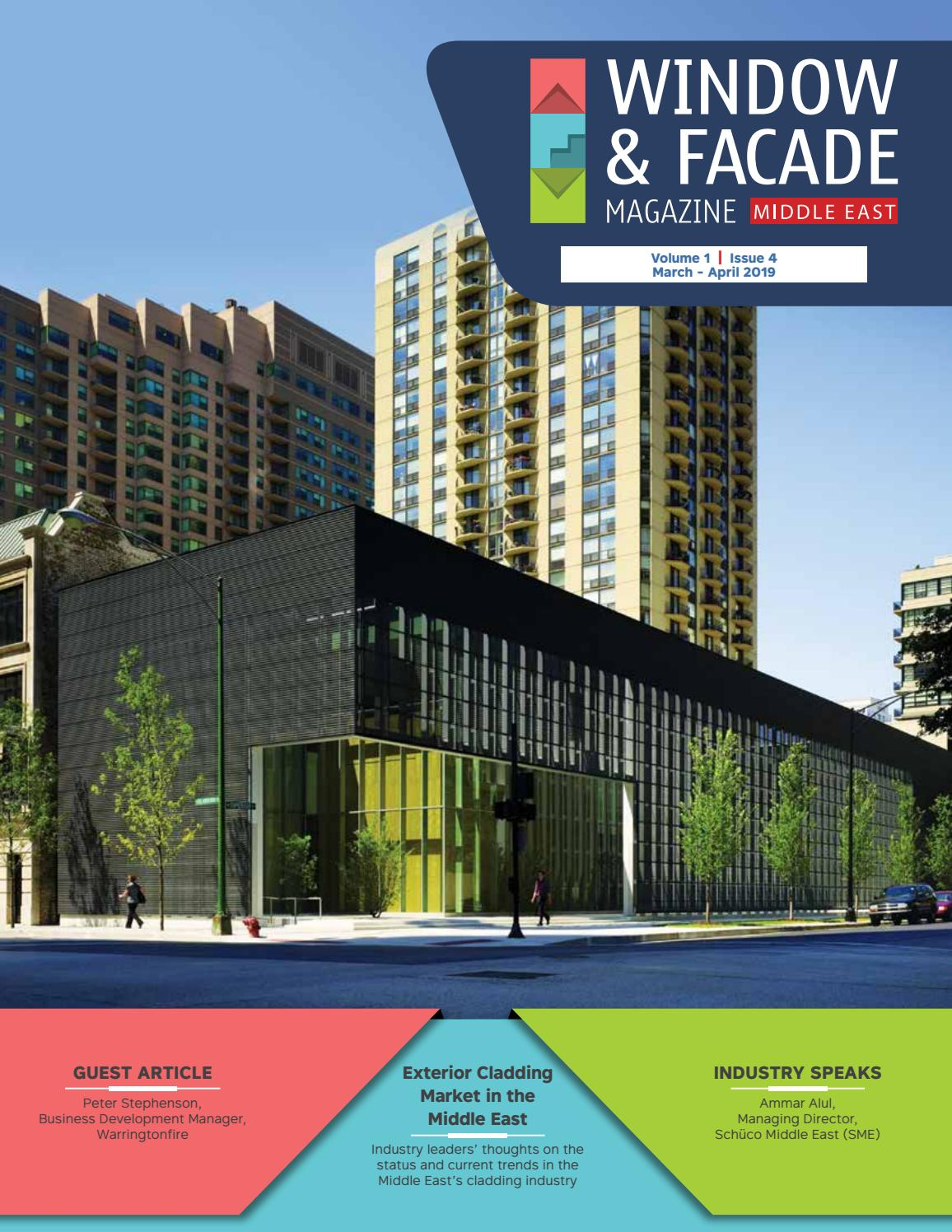 Window Facade Magazine Middle East March April 2019 by F & F