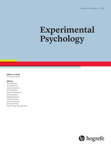 Experimental Psychology 1/2018 by Hogrefe - issuu