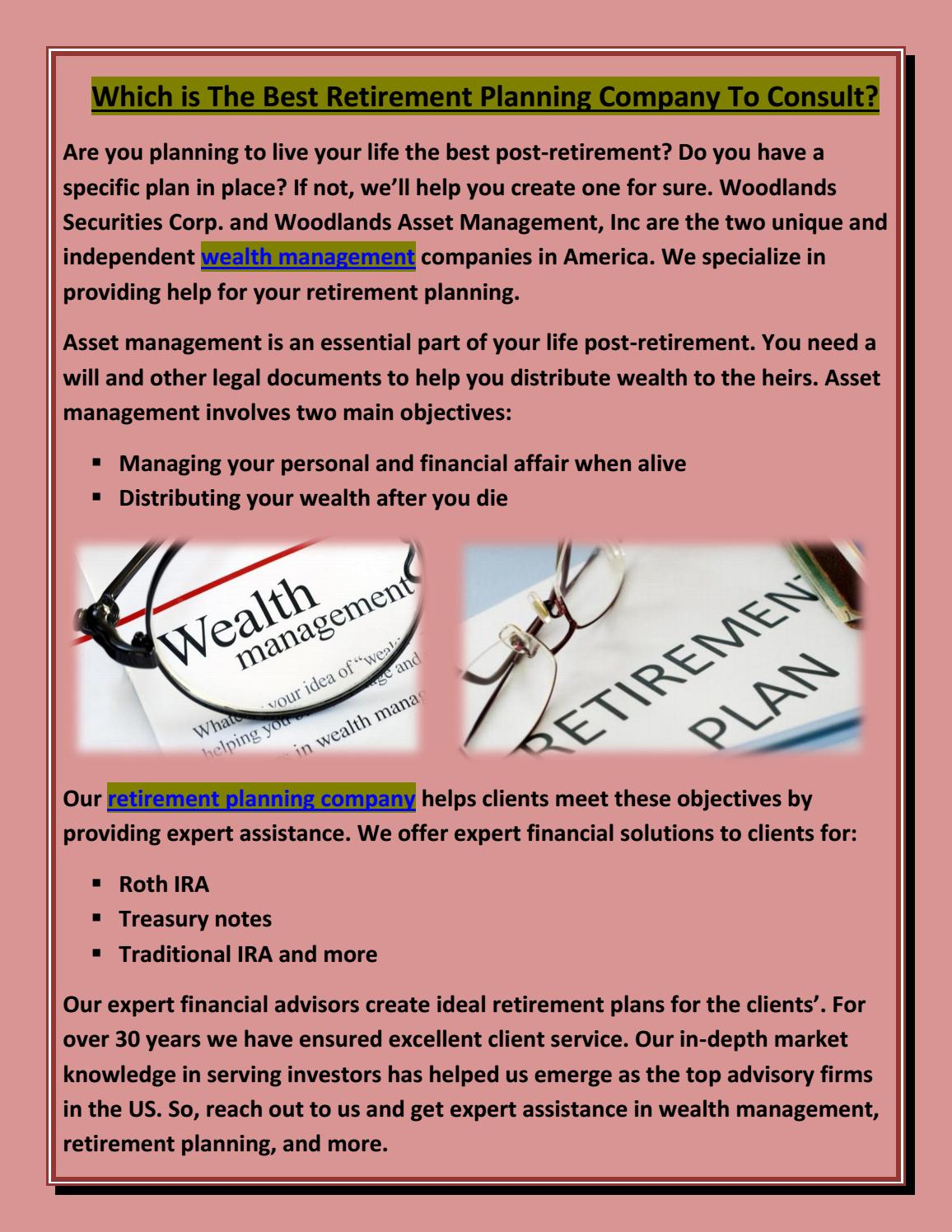Which is The Best Retirement Planning Company To Consult? by