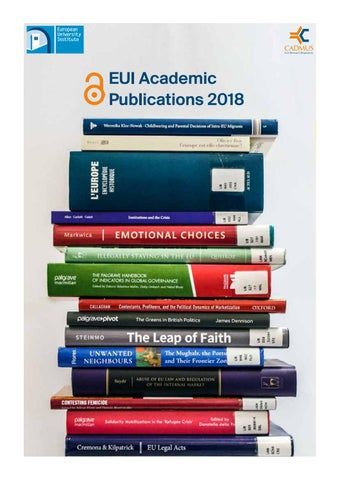 fb69645c20 EUI Academic Publications 2018 by European University Institute - issuu