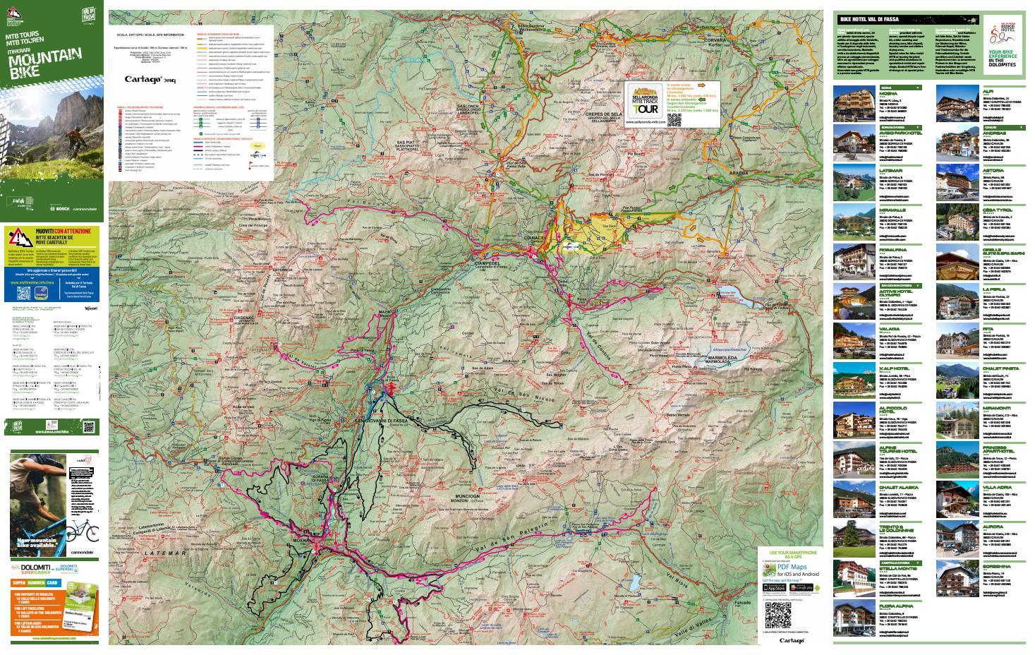 Cartina itinerari mountain bike 2019 by APT Val di Fassa - issuu