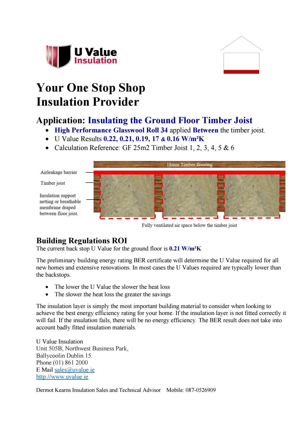 Insulating The Ground Floor Timber Joist By Uvalue Insulation Issuu