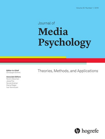 Journal of Media Psychology 1/2018 by Hogrefe - issuu