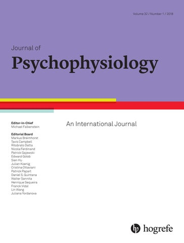 Journal of Psychophysiology 1/2018 by Hogrefe - issuu