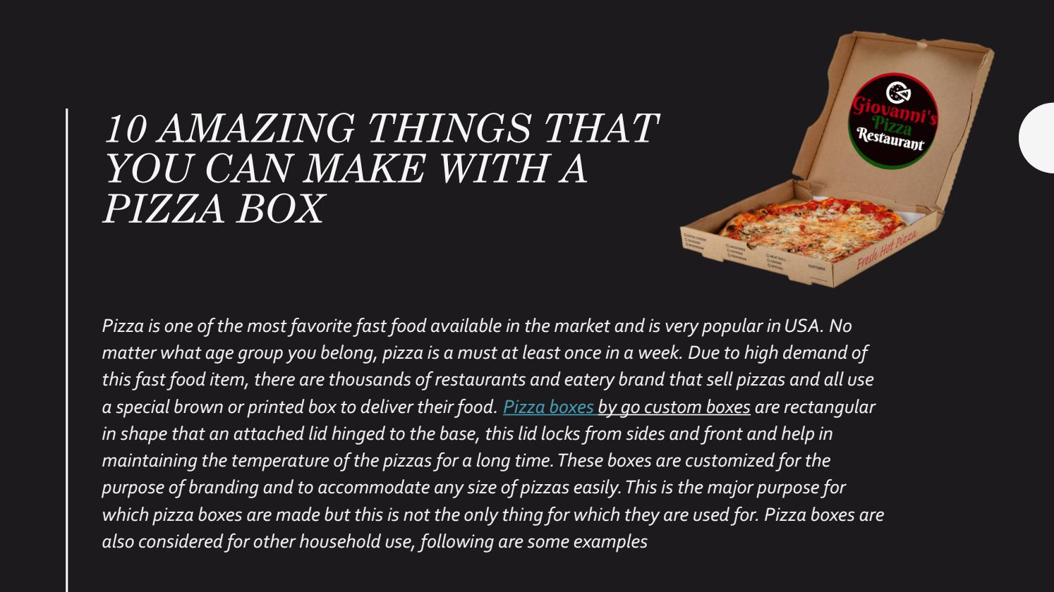 10 Amazing Things That You Can Make With A Pizza Box
