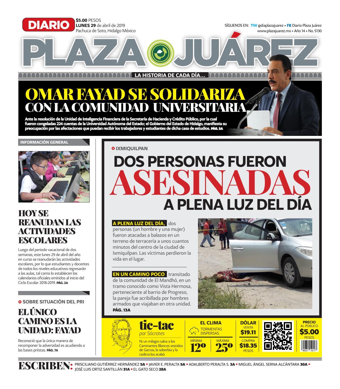 9b986c121 29-04-19 by Diario Plaza Juárez - issuu