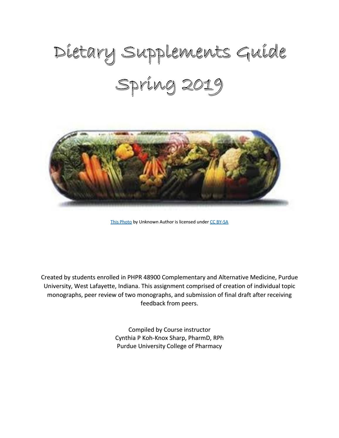 Dietary Supplement Guide Spring 2019 by ckohknox issuu