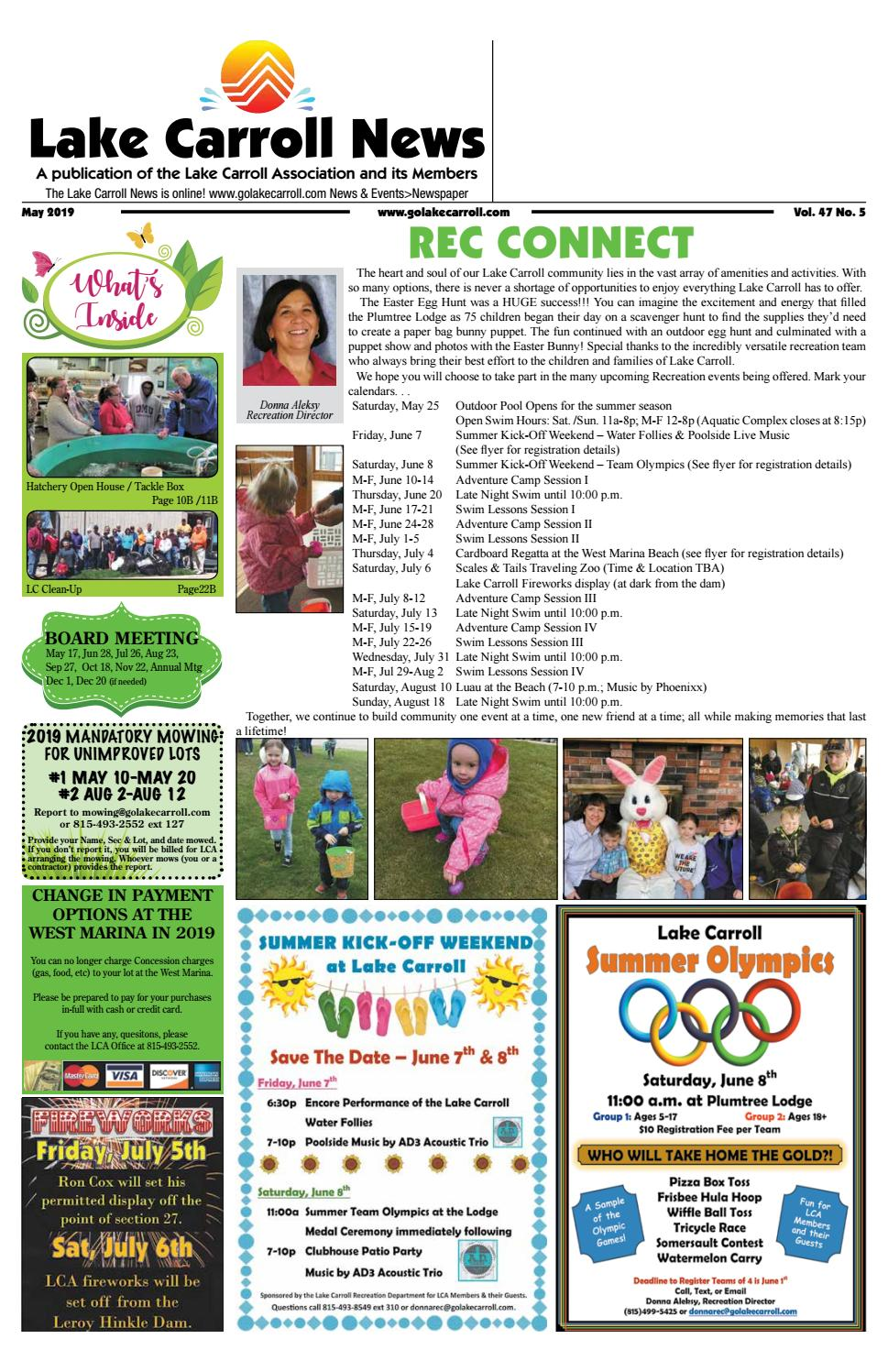 Lake Carroll News May 2019 By Lake Carrol News Issuu