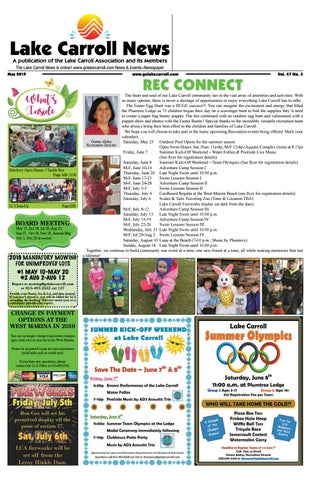 Lake Carroll News May 2019 By Lake Carrol News Issuu - roblox how to get bunny ears 2017 even when expierd youtube