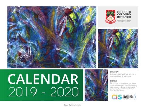 Calendario 2019 2020.Ccb Calendario 2019 20 By Colegio Colombo Britanico Issuu