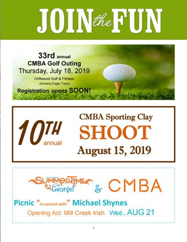 Page 3 of CMBA Summer Events