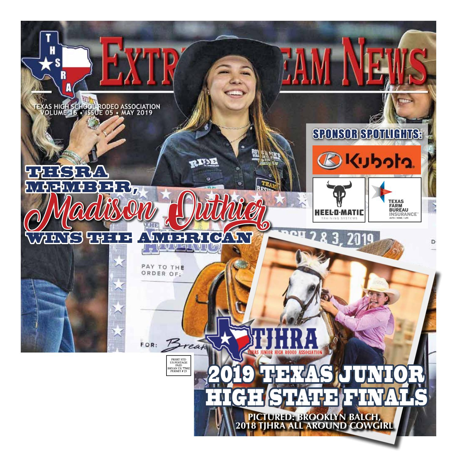 Extreme Team News - May 2019 by Texas High School Rodeo