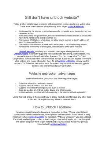 still do not have unblock websites by iptv4sat - issuu